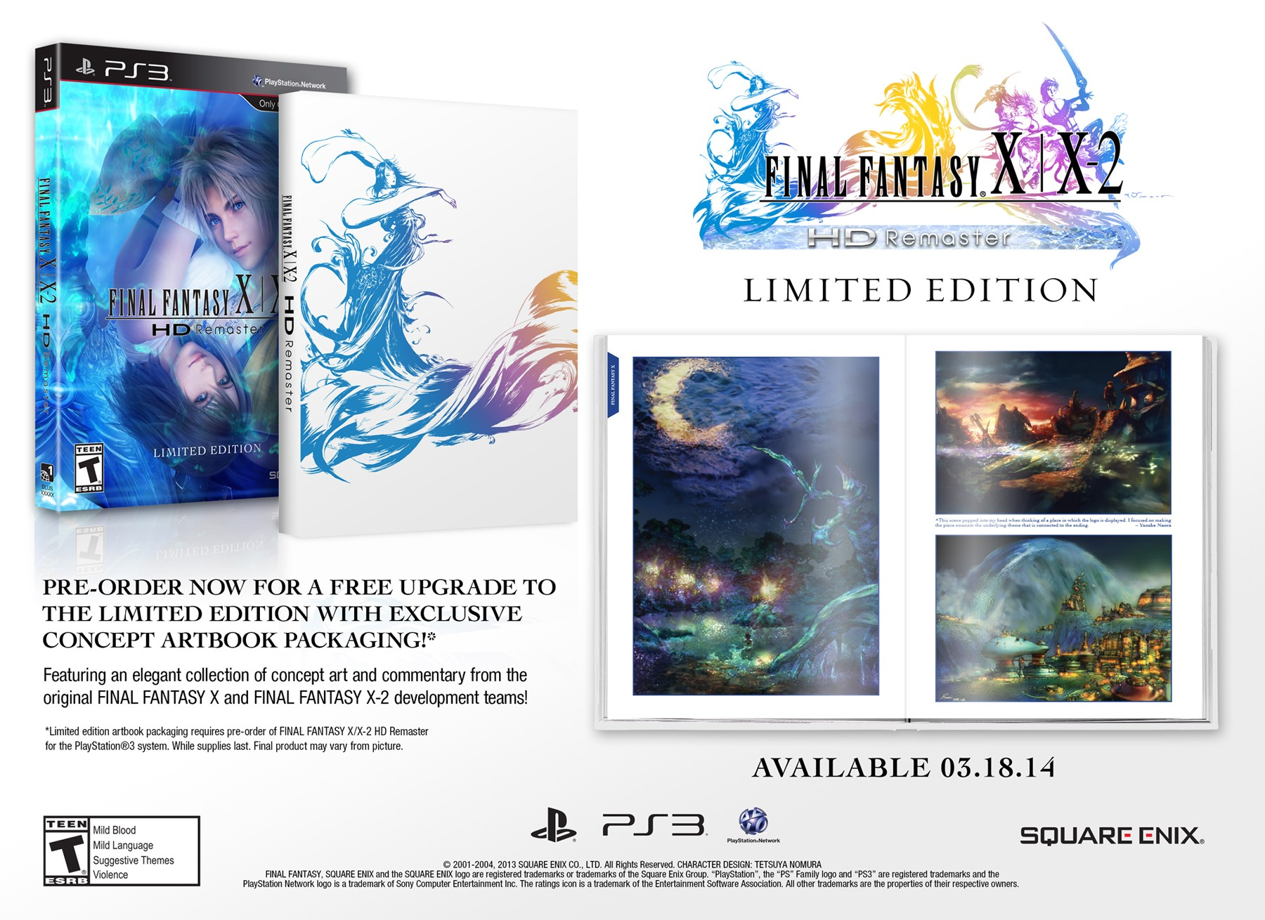 Final Fantasy X X-2 HD Remaster PS3 dated for the West