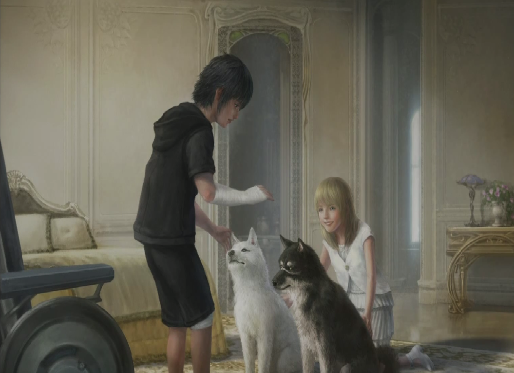 FFXV Noctis and Luna (childhood) concept