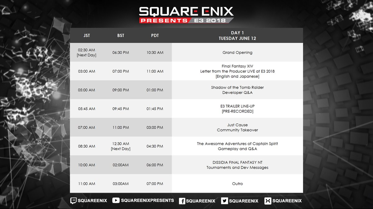 21f7ec2ba8e Square Enix will also be hosting a series of panels at the E3 Coliseum